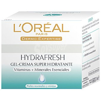 L'Oréal Paris Gel-crema de día super hidratante Hydrafresh para piel normal Tarro 50 ml