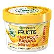 Mascarilla intensiva ultranutritiva con banana para cabello seco hair food Bote 390 ml Fructis Garnier