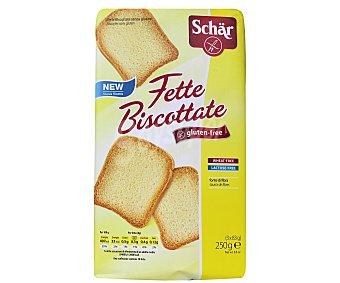 Schär Fette Biscottate pan tostado sin gluten y sin lactosa envase 250 g