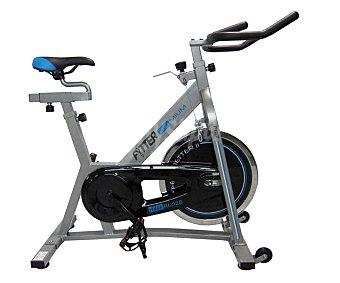FYTTER Bicicleta de Spinning con rueda de inercia de 15 kilos, monitor multifunción, control de resistencia y freno de emergencia 1 Unidad