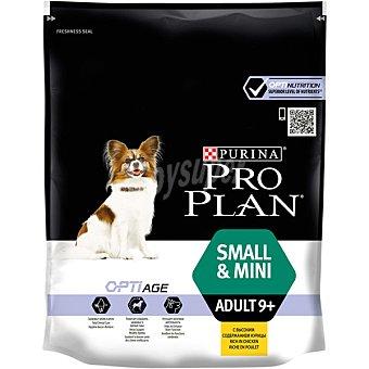 Purina Pro Plan Optiage alimento especial para perros adultos de raza mini de + 9 años con pollo y arroz Envase 700 g