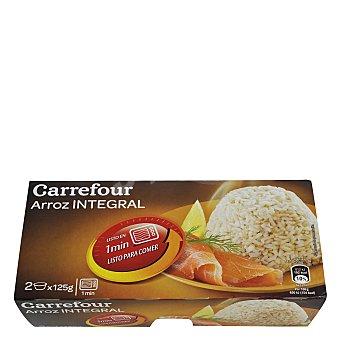 Carrefour Arroz integral microondas Pack de 2x150 g
