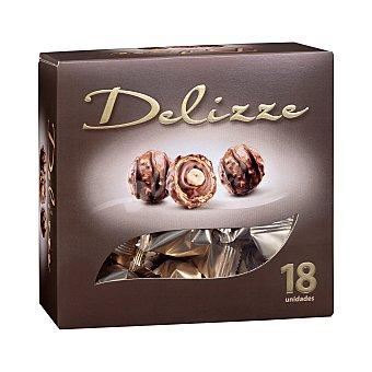 Hacendado Crujientes especialidades delizze de chocolate con avellana Caja 252 g (18 u)