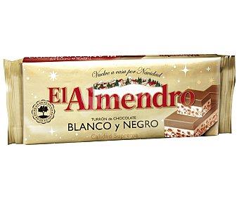 EL ALMENDRO Turrón de chocolate blanco y negro de calidad suprema 285 gramos