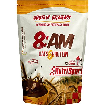 NUTRISPORT Desayuno con proteínas y avena 8 AM Bolsa de 650 g