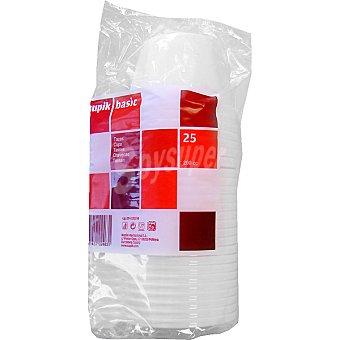 Nupik Taza desechable paquete 25 unidades 20 cl