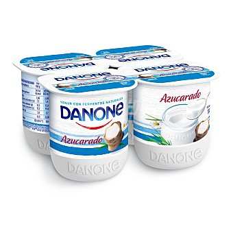 Danone Yogur natural azucarado 4 unidades de 125 g