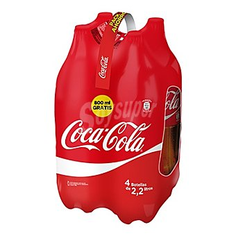 Coca-Cola Cola normal Pack 4 x 2200 cc- 8800 cc