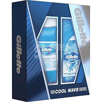 Gillette Pack Cool Wave con desodorante en gel + gel de ducha frasco 250 ml estuche 1 unidad 70 ml