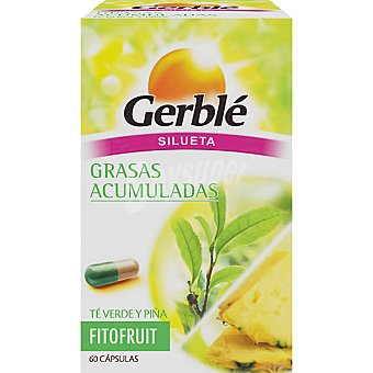 Gerblé Quemagrasa de té verde y piña Fitofruit 60 cápsulas