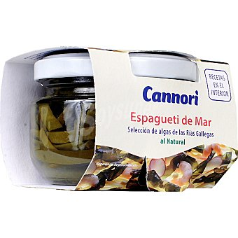 CANNORI Espagueti de mar al natural Frasco 75 g neto escurrido