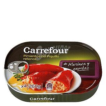 Carrefour Pimientos del Piquillo rellenos de merluza y gambas 260 g