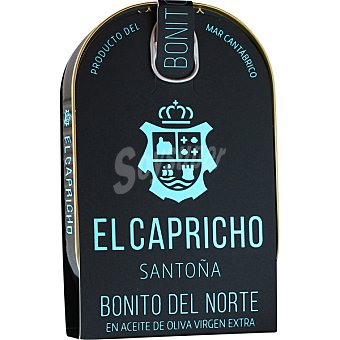 El Capricho Santoña bonito del norte en aceite de oliva virgen extra lata 155 g neto escurrido lata 155 g neto escurrido