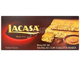 Lacasa Turrón praliné de natillas con galleta María 200 gramos