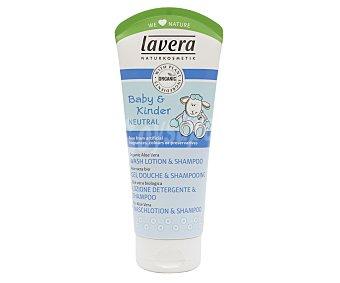 Lavera Naturkosmetik Gel y champú de baño para bebé con aloe vera orgánica 50 ml