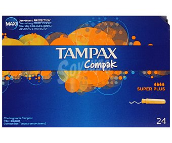 Tampax Tampón superplus Compak 24u