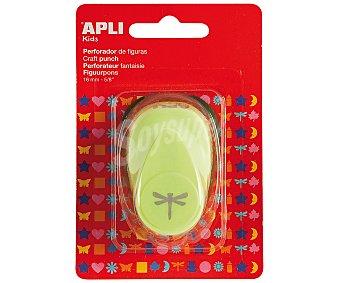 APLI Perforadora de papel con forma de libélula, de color verde y de 16 milímetros 1 unidad