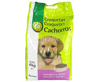 Productos Económicos Alcampo Comida Seca para Cachorro de Perro: Croquetas Bolsa 4 Kilogramos