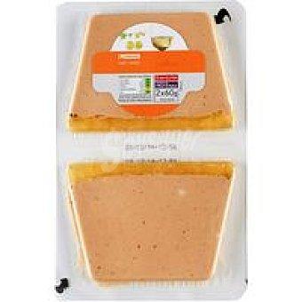 Eroski Paté de oca al Sauternes Pack 2x60 g