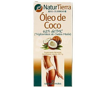 NaturTierra Perlas de aceite de coco 30 unidades