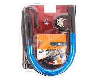 Auchan Antirrobo articulado con anclaje al pedal y al volante, de 72 centímetros, con pintura anticorrosiva y 2 llaves tubulares 1 unidad