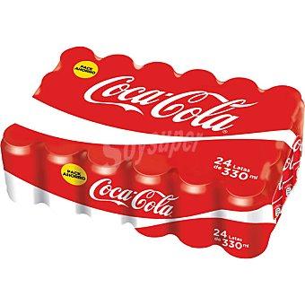 Coca-Cola Refresco de cola 24 latas de 33 cl