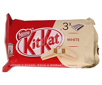 Kit Kat Nestlé Chocolatina barrita kit kat blanco Pack 3 u - 135 g
