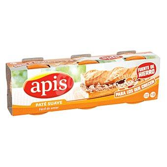 Apis Paté de hígado suave Pack 3 x 80 g