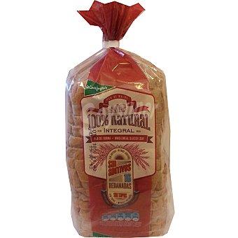 El Corte Inglés pan de molde integral 100% natural con corteza 16 rebanadas  bolsa 460 g