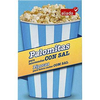 Aliada Palomitas para microondas con sal 3 bolsas de 100 g