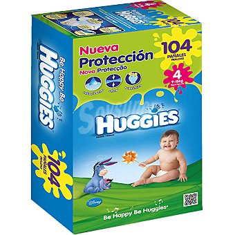 Huggies Pañales Duo de 9 a 15 kg talla nueva protección 4 caja 104 unidades