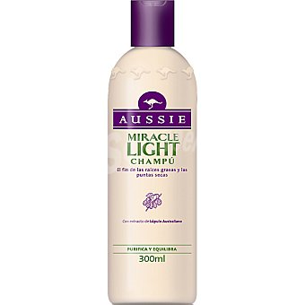 Aussie Champú Miracle Light con extracto de lúpulo australiano purifica y equilibra Frasco 300 ml