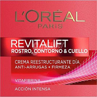 L'OREAL Revitalift Crema reestructurante día rostro contorno y cuello tarro 50 ml anti-arrugas + firmeza Tarro 50 ml