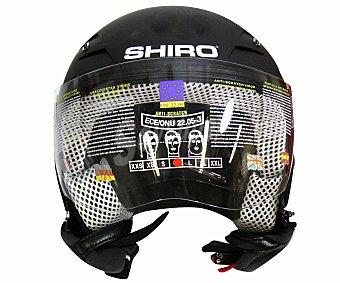SHIRO Casco de moto homologado, de color negro y talla M 1 unidad
