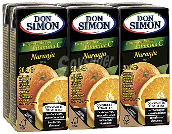 Don Simón Zumo de naranja con vitamina C Pack de 6x20cl