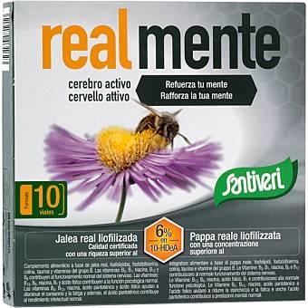 Santiveri Cerebro activo jalea real liofilizada Real Mente 10 viales (envase 100 cc)