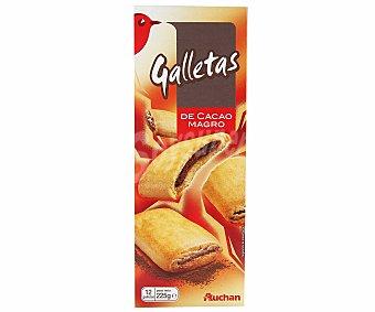 Auchan Galletas Rellenas de Chocolate 235 gramos