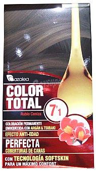AZALEA Tinte coloración permanente color total n 7.1 rubio ceniza (enriquecido con aceite argan y tsubaki u