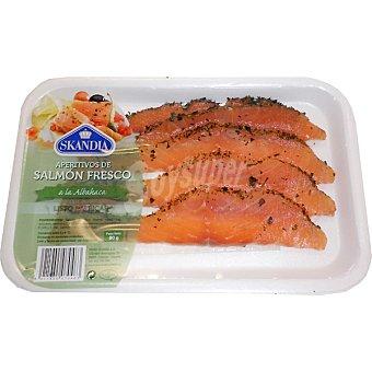Skandia Aperitivos de salmon fresco a la albahaca Bandeja 80 g