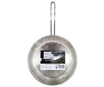 MONIX Sartén de 30 centímetros con cuerpo de acero inoxidable con grosor de 4.6-4.8 milímetros y triple fondo difusor del calor 1 Unidad
