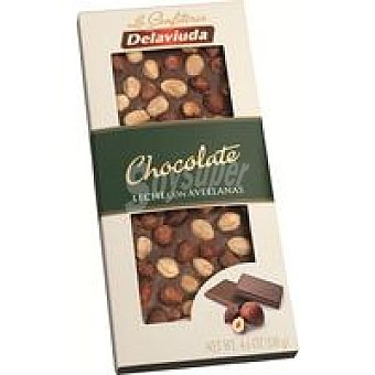 Delaviuda Chocolate con leche-avellananas Tableta 130 g