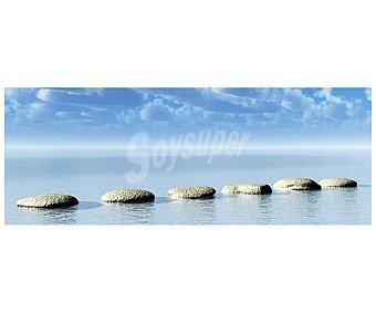 IMAGINE Cuadro con la imagen de unas rocas sobre el agua y dimensiones de 30x80 centímetros 1 unidad