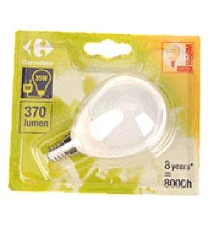 Carrefour Bombilla ecologica esferica 8W E14 luz calida