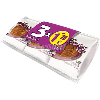 Eidetesa Queque integral formato ahorro  3 unidades (285 g)