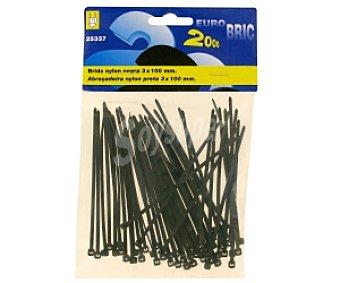EUROBRIC 2000 Brida Nylon 2.5x95 negro 50 Unidades