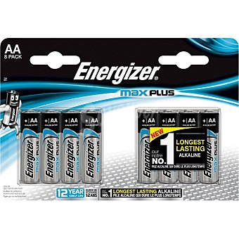 Energizer Max Plus pila AA LR-6 blister 8 unidades blister 8 unidades