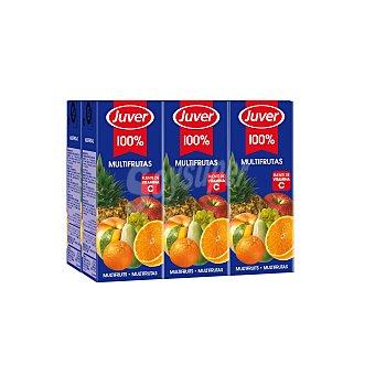 JUVER Zumo multifrutas  pack 6 brik de 200 ml
