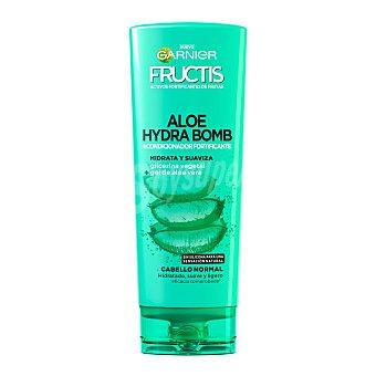Fructis Garnier Acondicionador fortificante con aloe vera y glicerina vegetal hydrabomb Bote 250 ml