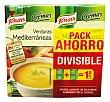 Crema líquida de verduras mediterránea  2 unidades de 500 cc (1 l) Knorr
