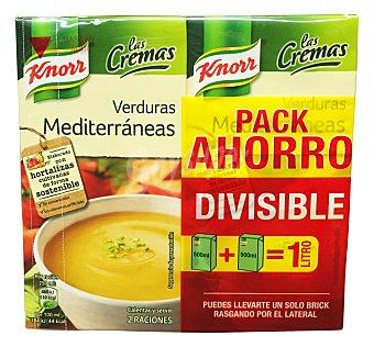 Knorr Crema líquida de verduras mediterránea  2 unidades de 500 cc (1 l)